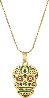 Best skull gold necklace Reviews