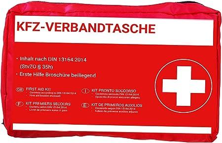 Hp Autozubehör 10039 Kfz Verbandtasche In Rot Auto