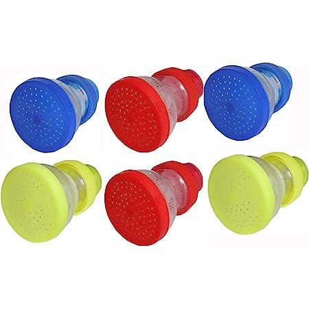 Smile N Style Essentials - Pack of 6 Water Softner Filter/Tap Shower Sprinkler head/Direct Ration Kitchen and Bathroom Tap Sprinkler Plastic Shower Head