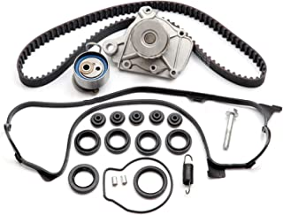 ECCPP Fits for Honda Civic DX EX GX LX 1.7 Timing Seal D17A Timing Belt Kit Valve Cover Gasket Water Pump TBK312