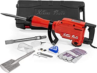 XtremepowerUS Industrial Electric Demolition Jack Hammer Concrete Breaker (2200Watt..