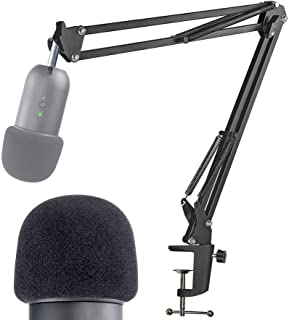 K678 Mic Stand with Pop Filter - Microphone Boom Arm Stand with Foam Windscreen for Fifine K678 USB Podcast Microphone by ...