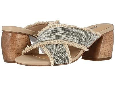 Vaneli Levya (Natural Canvas/Silver Chain/Beige Super Suede) High Heels