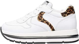 VOILE BLANCHE Sneakers Donna Maran Bianco Leo Pelle Cavallino