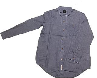 Women's Long Sleeve Button Down Shirt, Mood Indigo Heather, Medium