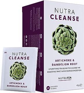 NUTRACLEANSE - Detox Tea | Colon Cleanse Tea | Constipation Tea - Full Body Detox Cleanse – Includes Dandelion Root, Milk ...
