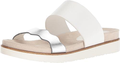 Kensie Wohombres Digby Slide Sandal, blanco, 11 M US