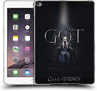 Official HBO Game of Thrones Daenerys Targaryen Season 8 for The Throne 1 Soft Gel Case Compatible for iPad Air 2 (2014)