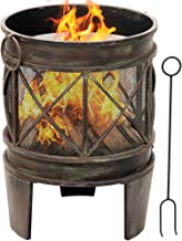 Amagabeli Fire Pit Outdoor Wood Burning 23in Cast Iron Firebowl Fireplace Heater Log Charcoal Burner Extra Deep Large Roun...