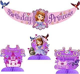 Disney Junior Sofia the First Party Decorating Kit Includes Centerpiece and Banner