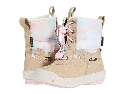 KEEN Kids Kelsa Tall WP (Toddler/Little Kid) (Plaza Taupe/Pink Blush) Girl