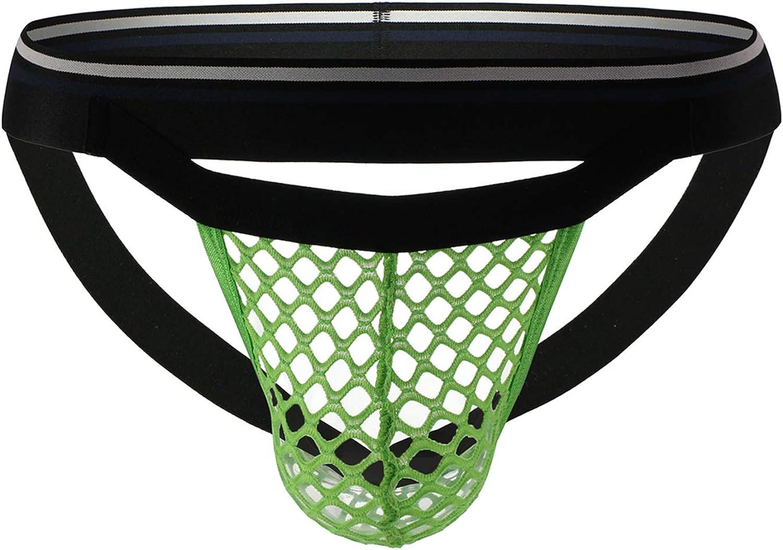 YOOBNG Mens Jockstrap Supporter Athletic Mesh Ultra Soft See Through Breathable Bulge