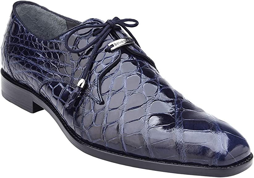 Amazon Com Belvedere Lago Genuine Alligator Men S Plain Toe Dress Shoes 14010 Oxfords