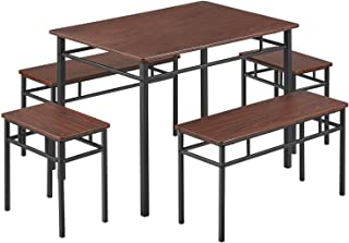 kealive Dining Table Set Kitchen Table with Bench 5...