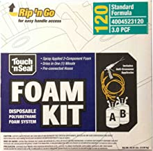 Touch n' Seal High Density Spray Foam Roof Insulation Kit 3.0 PCF Closed Cell Foam - 120 BF