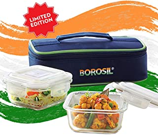 Borosil Limited Edition Pride Glass Lunch Box Set of 2, 320 ml, Horizontal, Microwave Safe Office Tiffin