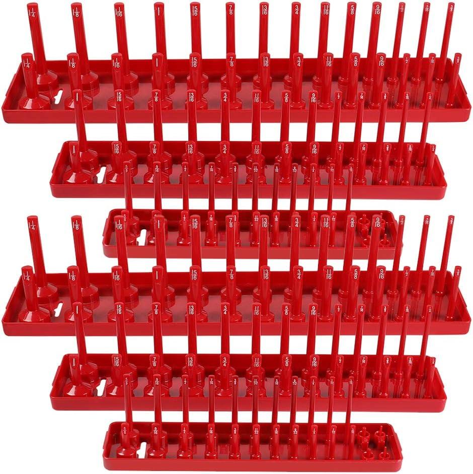 格安SALEスタート OTOEZ 6Pcs ABS Socket Organizer Tray Rack Holder Too Storage Set 国内即発送