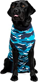 Suitical Recovery Suit Perro, XL, Camuflaje Azul