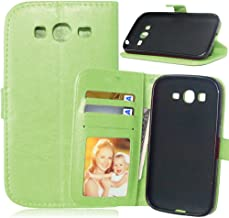Galaxy Grand Neo Plus I9060 Case + Free Charger Cable, TOMYOU Flip PU Leather Wallet Case with Cards Clip and Stand for Samsung Galaxy Grand Neo Plus I9060 (Grand Lite) (Light Green)