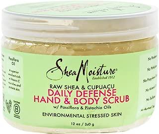 Shea Moisture Raw & Cupuacu Daily Defense Hand & Body Scrub for Unisex, 12 Ounce
