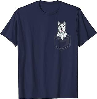 Cute Siberian Husky In your Pocket T-Shirt Puppy Gift Shirt
