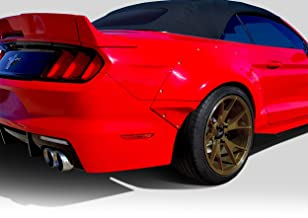 Brightt Duraflex ED-XTI-990 Grid Wide Body Rear Fender Flares - 4 Piece Body Kit - Compatible With Mustang 2015-2018