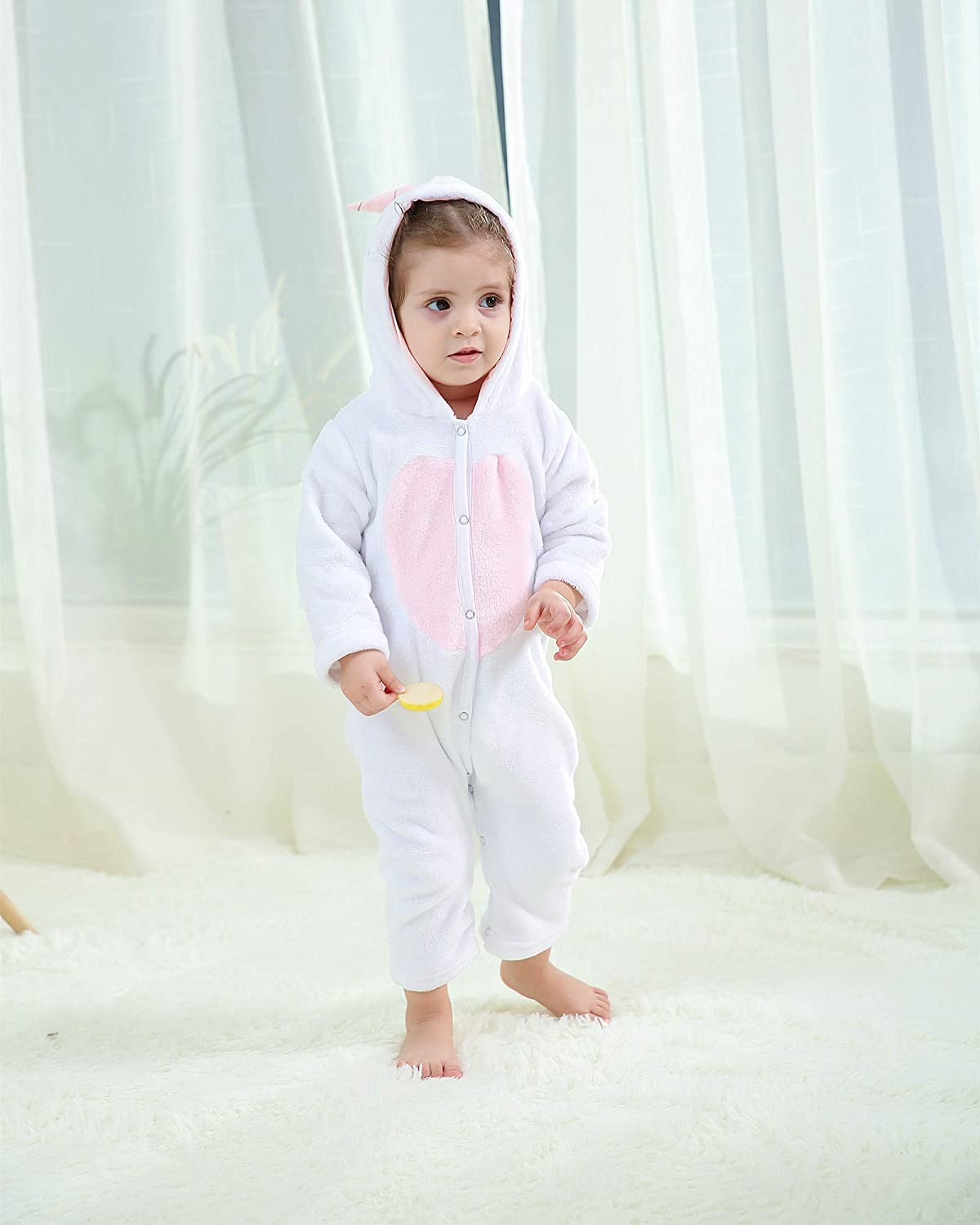 Mioglrie Newborn Baby Girl Rompers Infant Jumpsuits Toddler Hoodie Onesie Clothes Long Sleeve Baby Christmas Outfits