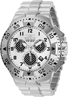 Invicta Men's Excursion Quartz Watch with Stainless Steel Strap, Silver, 30 (Model: 29719)