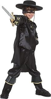 Cesar - Disfraz de el Zorro con espada para niño (de 3/5 años)