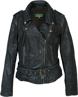 HIDEPARK Zoe: Women's Black Leather Biker Jacket