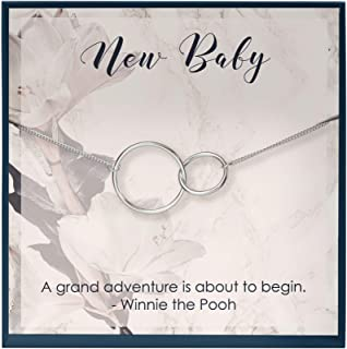 Muse Infinite First Time Mom Gifts for New Mom Gifts Mom Baby Necklace Mother Baby Jewelry Gifts for New Mommy Necklace Pe...