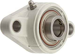 MRC C2F20SSG Flange Unit, 2 Bolt Holes, Relubricatable, Non-Expansion, Composite, Setscrew Locking Inner Ring, Stainless Steel Insert, Metric, 20 mm Bore Diameter