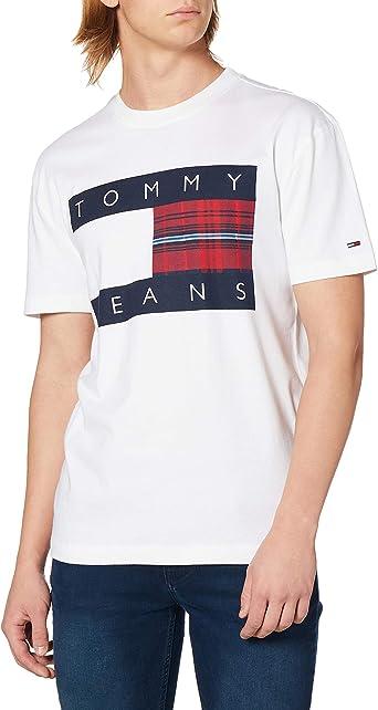 Tommy Hilfiger Camiseta DM0DM08791 YBR TJM Plaid Centre Flag ...