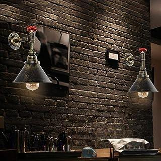 MJY Tubería de agua de moda de la economía industrial del modo de nostalgia Lámpara de pared retro en hierro forjado Estudio de precio Cafe Restaurante Bar Lámpara de pared [Eficacia: A +] Buena pers