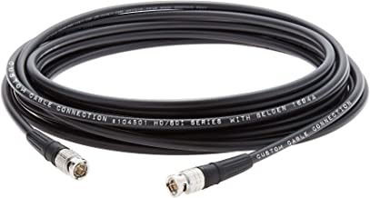 2 Foot Belden 1694A 3G/6G HD-SDI RG6 Cable (75 Ohm) with Canare BCP-B53 BNC connectors by Custom Cable Connection - Black # 104501-2