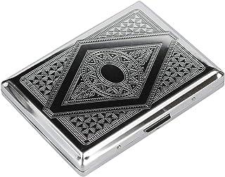Gymqian Cagarte Caseblocking Historio Victoriano Clásico Metalica Color de Plata Doble Superior Y Tarjeta de Tarjeta de Cr...