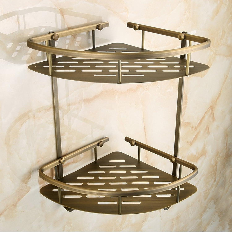 Cpp Shelf Bathroom Shelf All Copper Thick European Retro Double Shelves Tripod