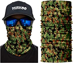MIRKOO Outdoor Camouflage Face Mask, Breathable Seamless Tube Dust-proof Windproof UV Protection Motorcycle Bicycle ATV Face Mask for Motorcycling Cycling Hunting Camping Climbing Fishing (OCAMO-342)