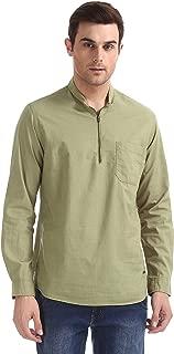 CHEROKEE Men's Solid Regular fit Casual Shirt (400020227263_Olive S)