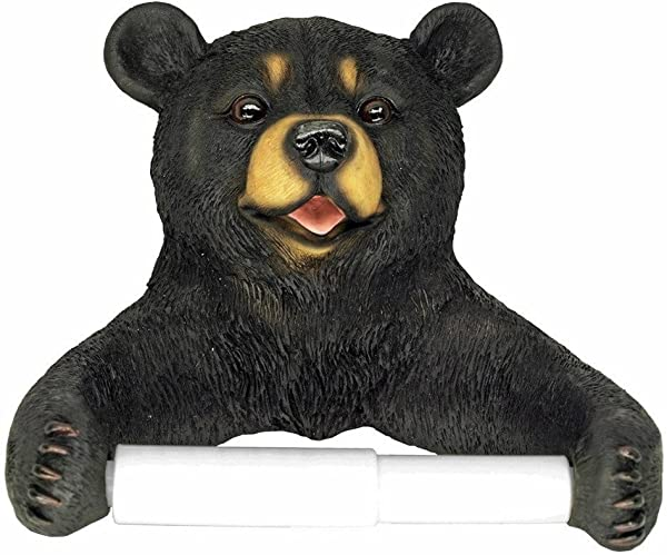 CAS Woodland Animal Rustic Lodge Toilet Paper Holder Bear Or Deer Bear