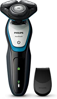 Philips S5070 AquaTouch Wet and dry electric shaver, ComfortCut Blade System, 40 min Cordless use / 1 h charge, Smart Clic...