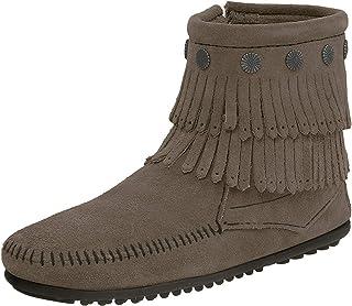 Minnetonka Hi Top Back Zip Boot 691T suède laarzen voor dames