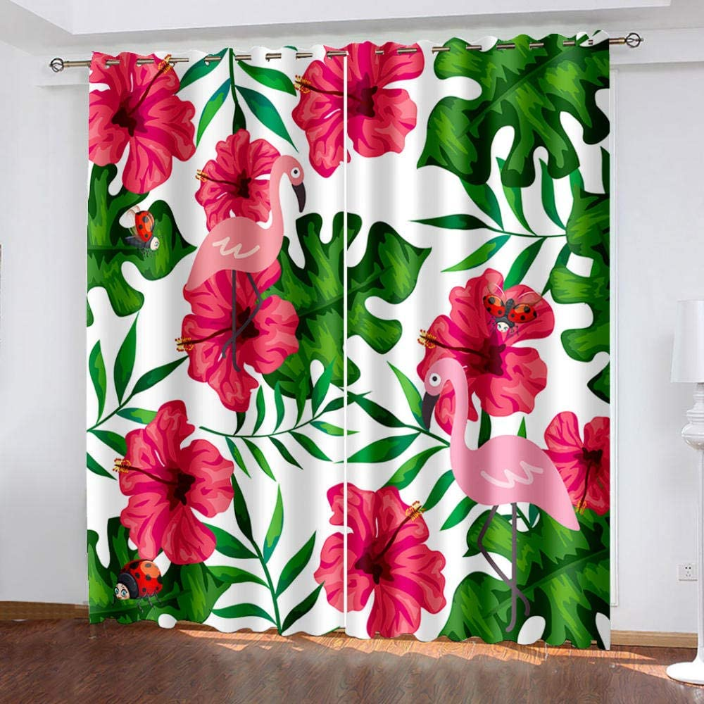 Blackout Curtains Red Insulated Thermal Flower Los Angeles Mall All stores are sold