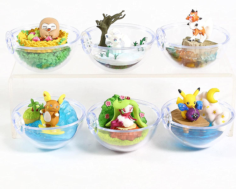 6Pcs Recommendation 5Cm Pokemon Terrarium Collection Vulpix Raichu Figure Max 54% OFF Vol.9