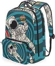 CIKYOWAY Detachable Atlanta Vector Map Artprint Black Landmass Bagpack Daypack for Teens