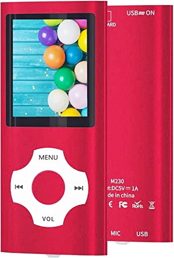 MP3 Player / MP4 Player, Hotechs MP3 Music Player with 16GB Memory SD Card Slim Classic Digital LCD 1.82'' Screen Mini USB Port with FM Radio,...