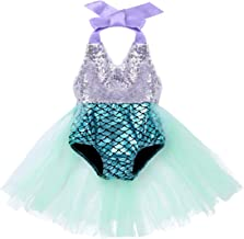 CHICTRY Baby Girls Little Swimmable Mermaid Princess Bikini Tutu Romper Dress up Costumes