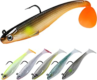 TRUSCEND Fishing Lures for Bass, Soft Swimbaits with Pre-Rigged Ultra-Sharp BKK or VMC Hooks, Japan Formula, Fishing Gear for Saltwater & Freshwater, Trout Pike Walleye Bass Fishing Jigs