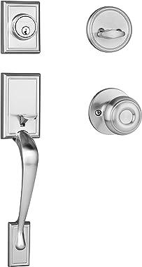 Dynasty Hardware RID-SIE-100-US15 Ridgecrest Front Door Handleset, Satin Nickel with Sierra Knob