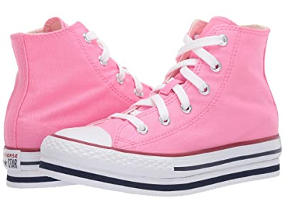 Converse Kids Chuck Taylor(r) All Star(r) Platform EVA (Little Kid/Big Kid) (Pink/Midnight Navy/Garnet) Girl